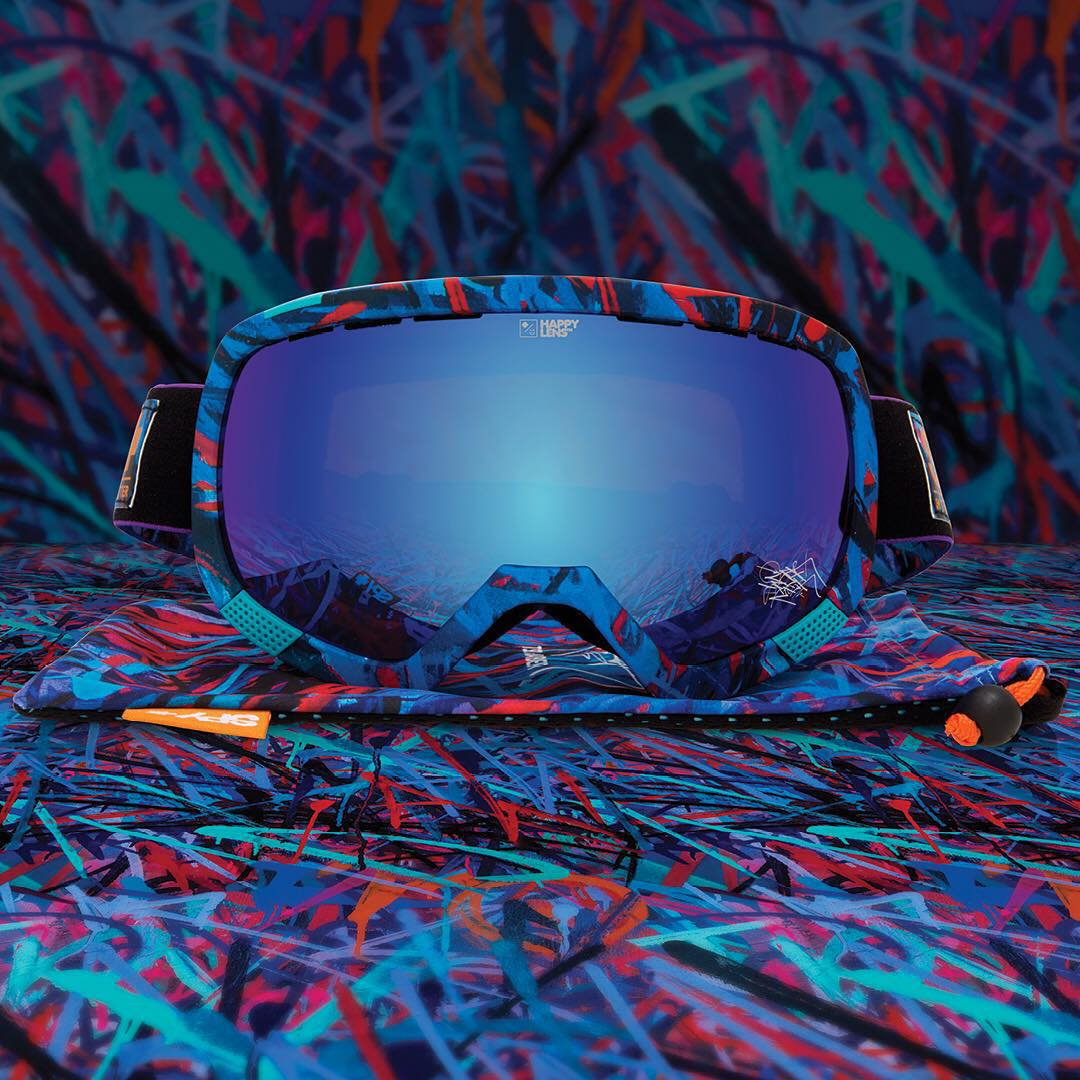 Rebel against normality in art that makes you smile . ✖️✖️✖️ Shop these limited edition SPY + Saber + TSL Platoon snow goggles with #HappyLens through the link in our bio.  #SEEHAPPY