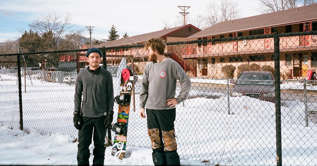 A skinny little photo of @bcocard and @calezima. Brandon's full part from @absinthefilms #Eversince is live on @twsnow for 48hrs and is worth watching 48x.