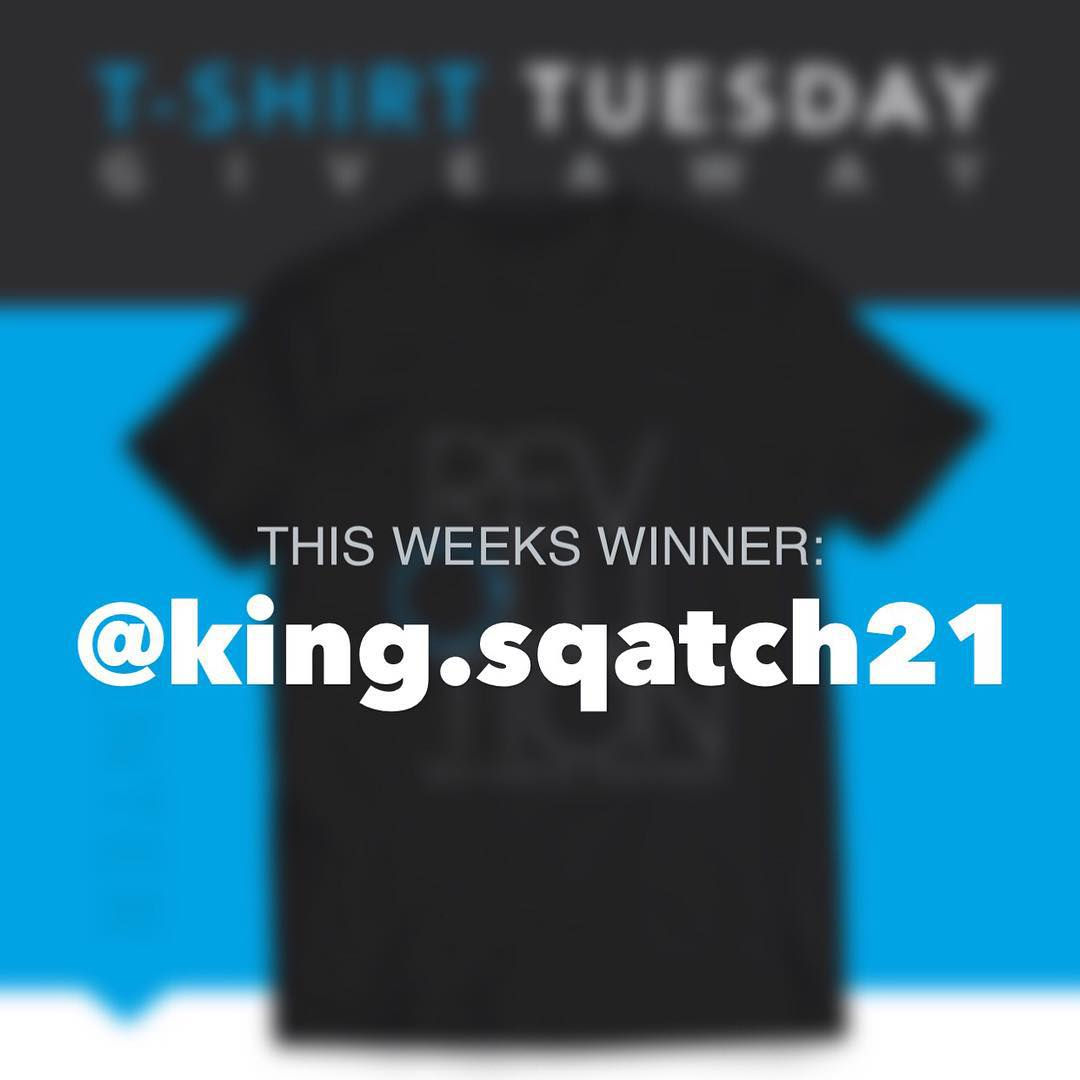 This weeks winner is... @king.squatch21 !! Congrats to him and thanks to everyone who entered. We will be back with a huge giveaway soon, so stay tuned!