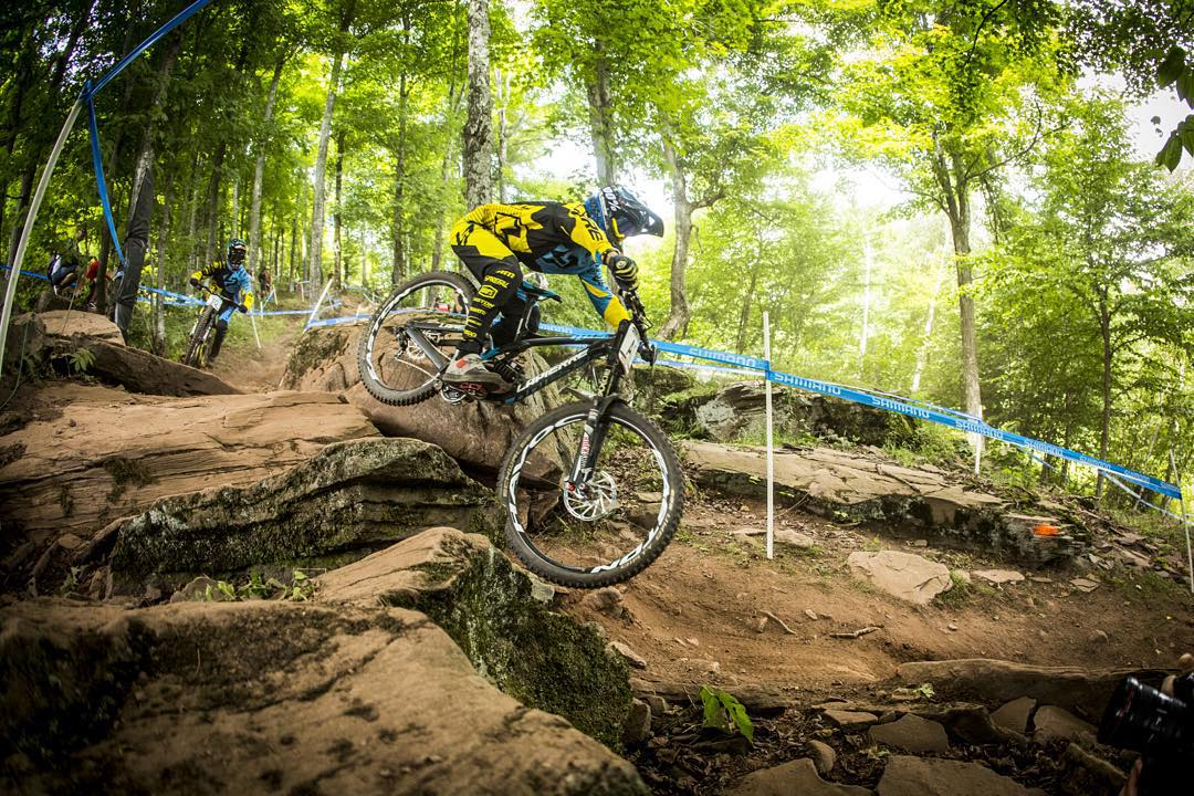 We hope everyone had a rad weekend of shredding?? @lorisvergier follows @finniles through the Windham rock garden #sixsixone #661 #661protection #ProtectFun
