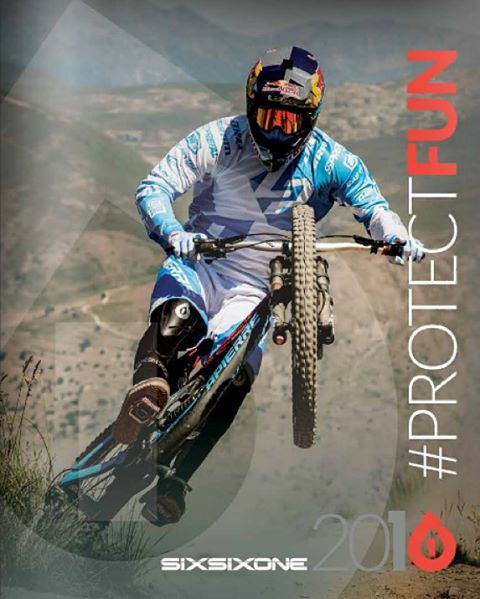 Who else but @loicbruni29 on our new front cover? We just dropped the new #661protection Catalog online... Link in our profile... Check it out!! #sixsixone #ProtectFun