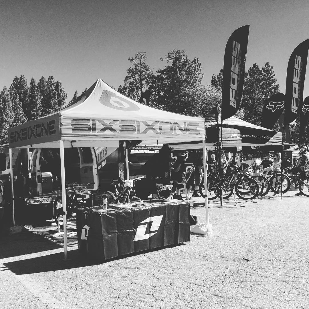 Race day!  We're out here, first DH race in Big Bear in 10 years. Stop by and grab a coozie. #protectfun #661protection