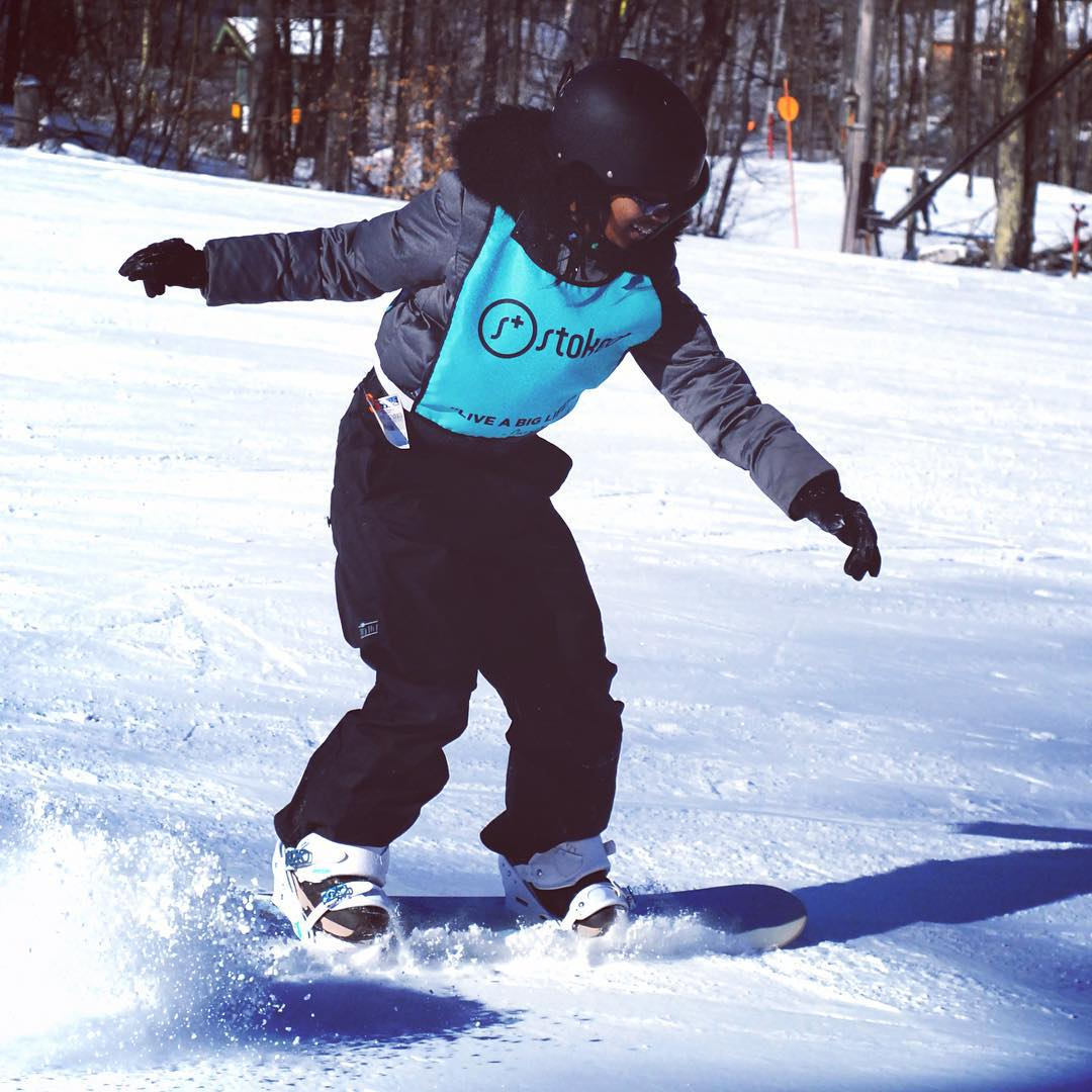 Snowboarding makes you challenge yourself and take risks - we love that the Stoked crew happily takes this on with a smile!