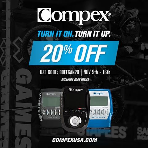 During the off season I use my @compexusa to relax and recover my muscles. Right now you can get one for 20% off using code BDEEGAN20 for the next few days
