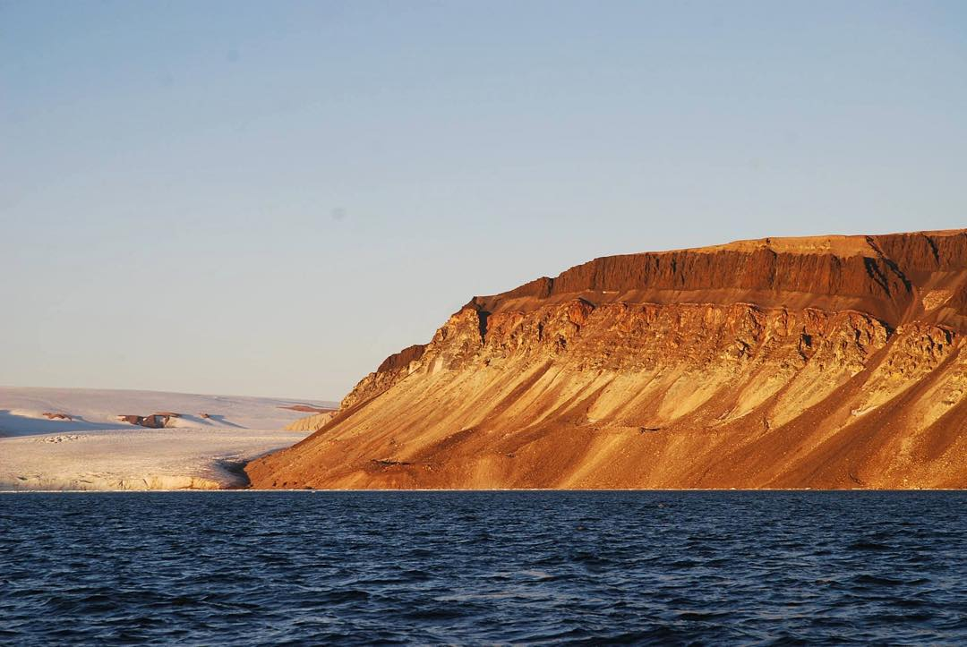 It's #Friday, and Ocean Research Project is on the hook at Devil's Thumb in #Greenland, taking a breather. #TGIF