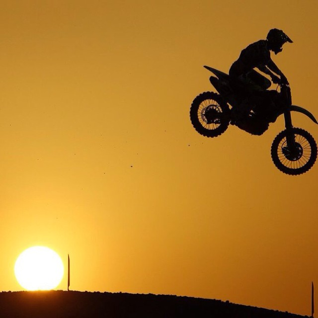 Late riser. Gautier Paulin at MXGP in Qatar. #mxgp