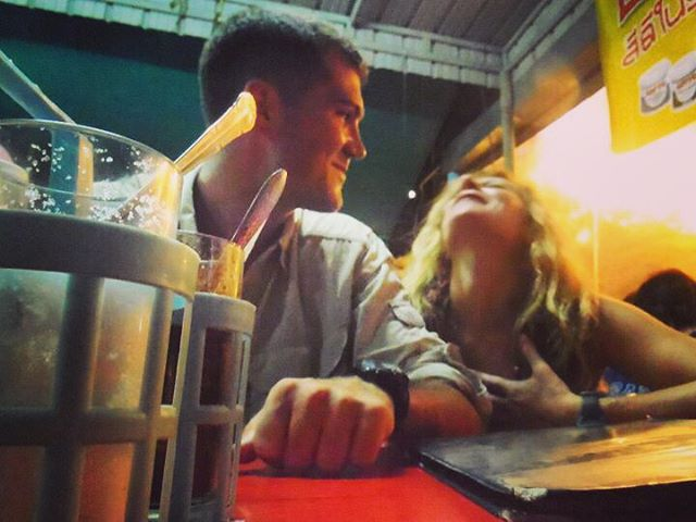 5 years ago you could find @mcelberts and I having a moment and eating at a local food spot in Phuket. I'm not sure what he said to make me laugh that hard but he's continued to do so, so that's a good sign