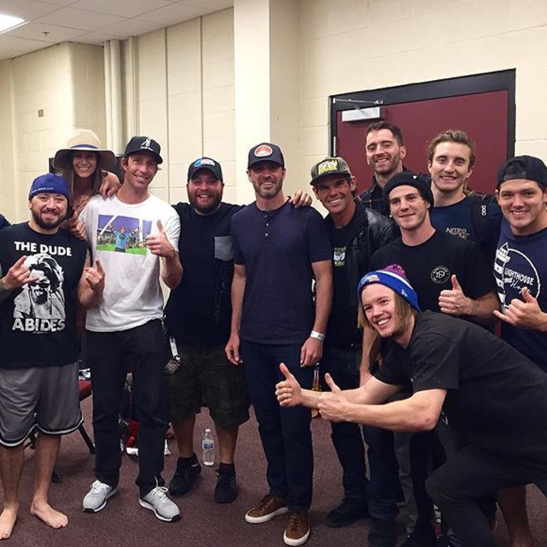 #XGames legend @TravisPastrana and his homies are hangin' out with NASCAR superstar @JimmieJohnson in Phoenix, Ariz.