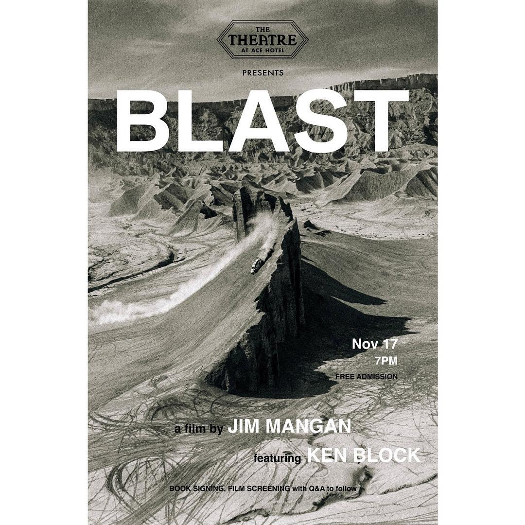 Ha, this is rad: there's a video from that fun art project I did with my buddy Jim Mangan in the Utah desert (called BLAST) that's premiering at The Theater at the Ace Hotel in downtown Los Angeles next week. Head over there to see video footage of...