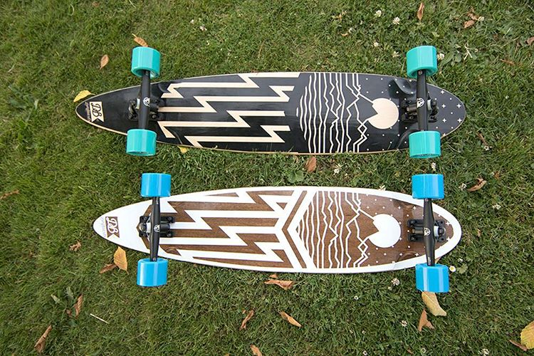 "The Cascade 38"" and 42"" Pintail Cruisers setting pretty. Customize your setup on either of these longboards at DBlongboards.com/build  #dblongboards #longboard #longboarding #pintail #cascades #cruiser #skateeverydamnday"