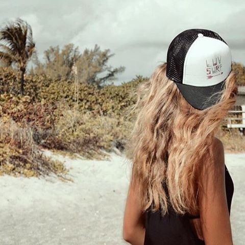 Trucker hat LUV // Welcome to the team @jessicaabbott_