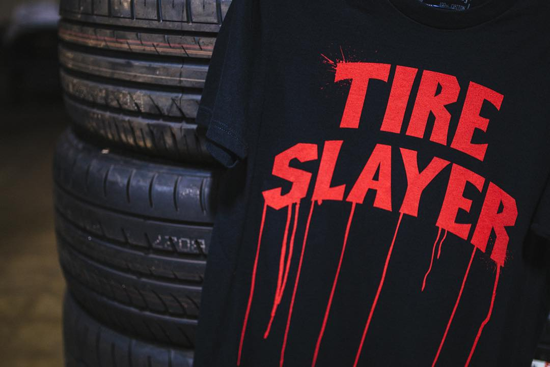 Support the destruction of tires. Tire Slayer made its way onto a lot more than just the tee. Get over to #hooniganDOTcom to see the entire line.