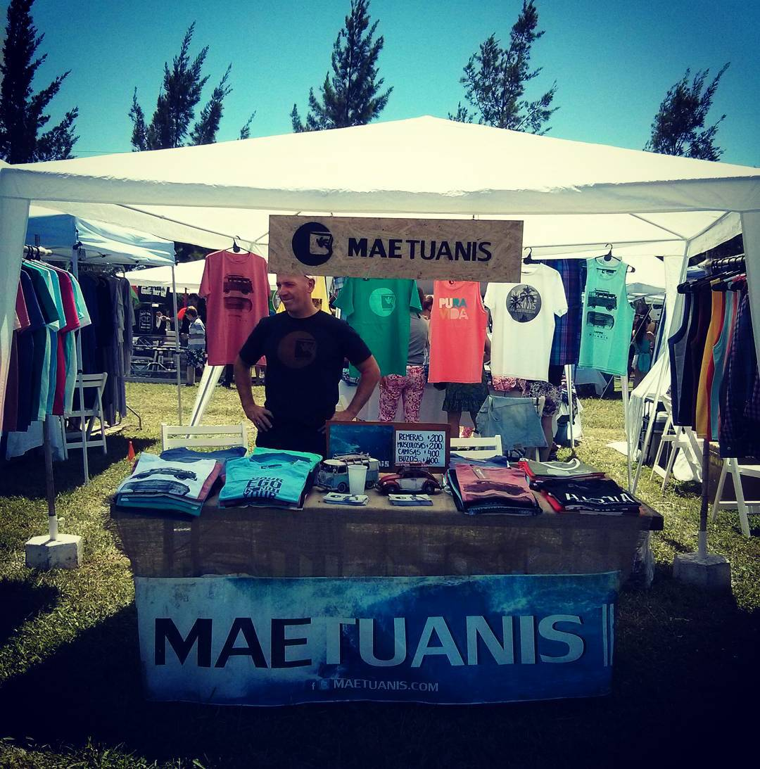 Arrancando una nueva Feria. Hasta las 19hs estamos en Santa Bárbara!! #maetuanis #followthesun #feria