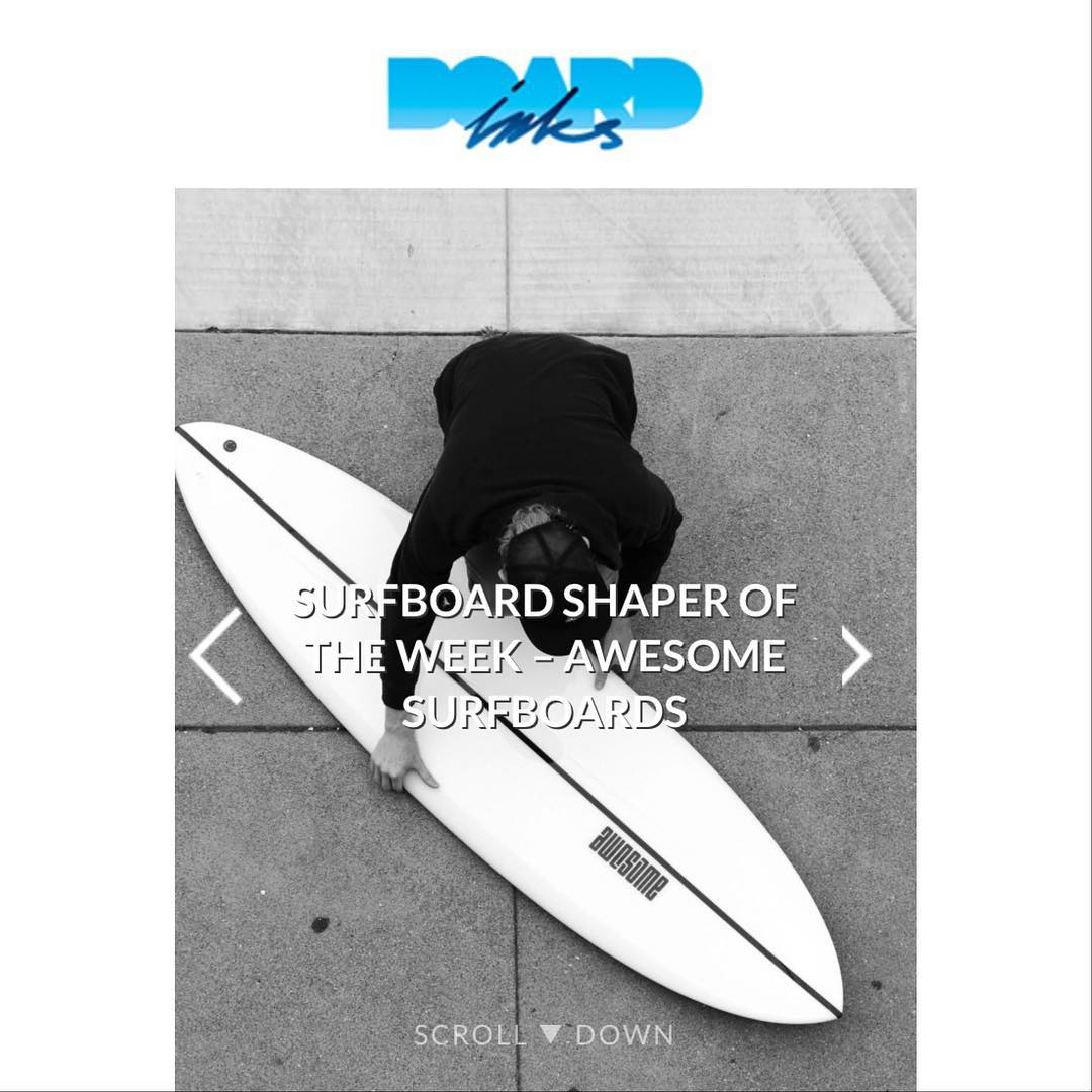 @_boardinks_ just released an interview about AWESOME .  click the link in our bio to learn more.  www.boardlinks.com #awesome #awesomesurfboards #surfing#surf#boardlinks #surfboards
