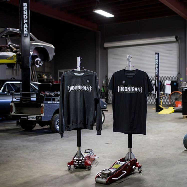 Projects and product-props at the #donutgarage. The UV C-bar is available in tee and crew neck fleece. Check it on #hooniganDOTcom