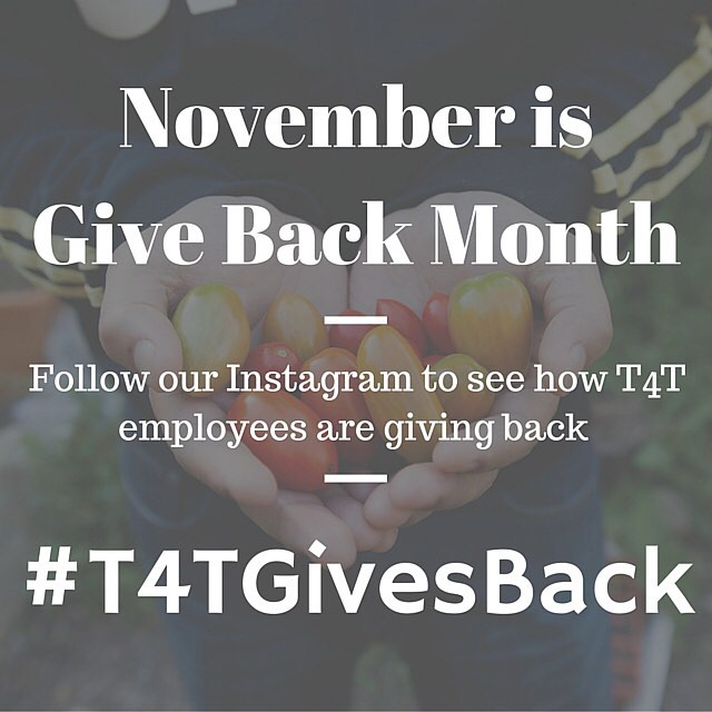Starting tomorrow, we will be posting images of Threads 4 Thought employees and sharing with you different ways we each give back. Follow our Instagram for an inside look into the T4T family. Comment & share with us ways that you are giving back....