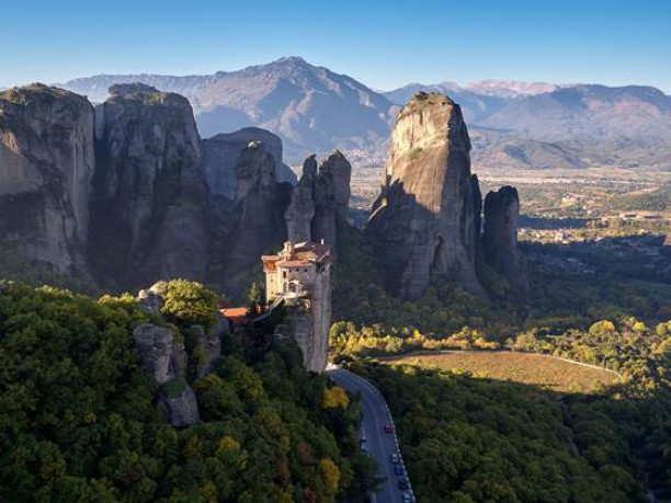 Why build on top of a mountain when you can see the beauty of #Meteora #Greece with a #DJI #inspire1 #X5?  First flight by Elia Locardi @elialocardi