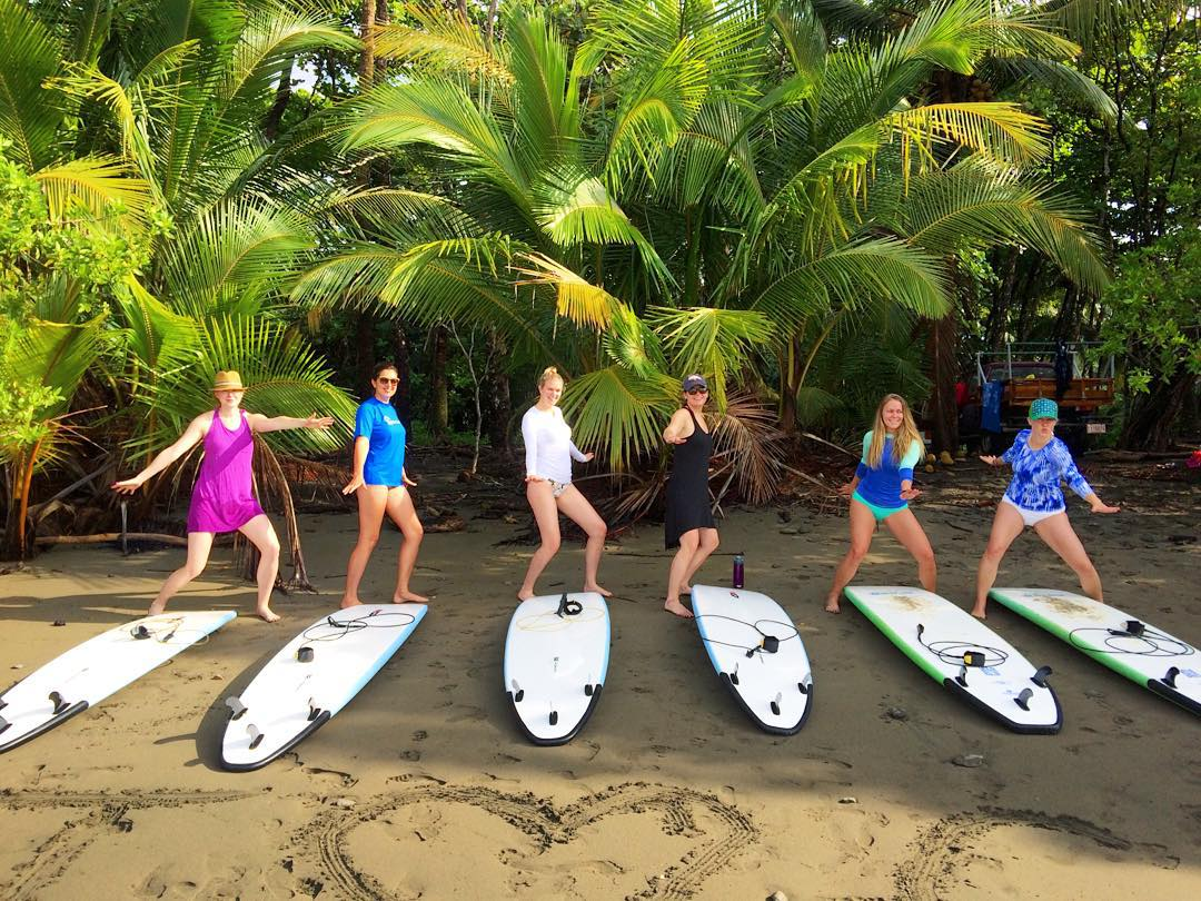 This Session is all women for a week of surfing, yoga, eating, and lots of laughter! #puravida #girlstrip #surfandyoga #costarica