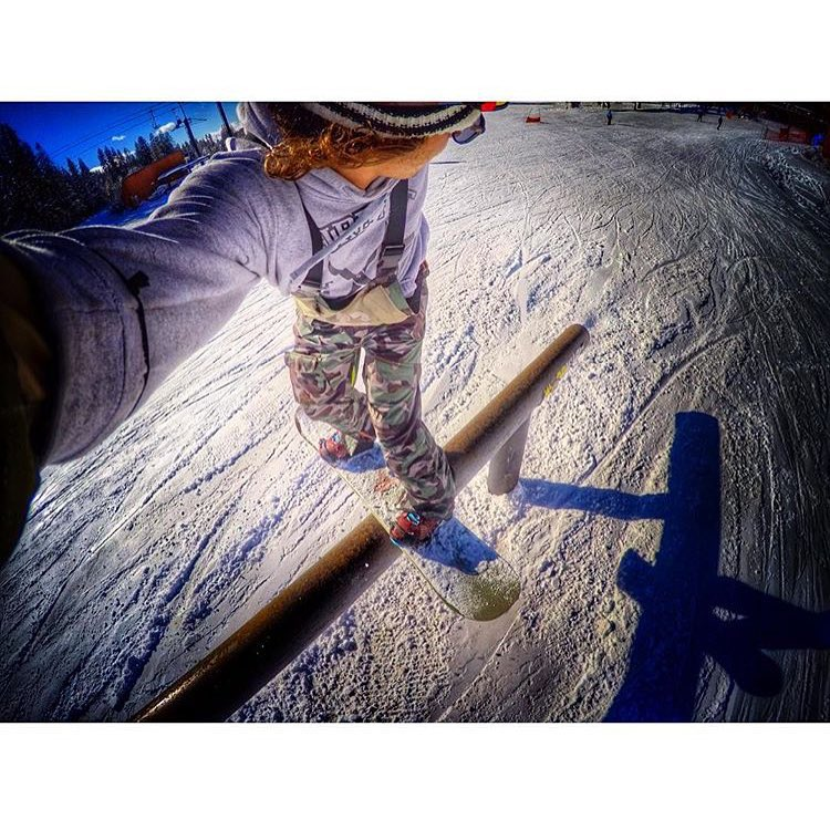 Stoked to be back on snow. #GoPro #Selfie from @johnny.lazz in the #Camo #TrooperBib | @woodwardtahoe @borealmtn #CamoKit #snowboardingseason