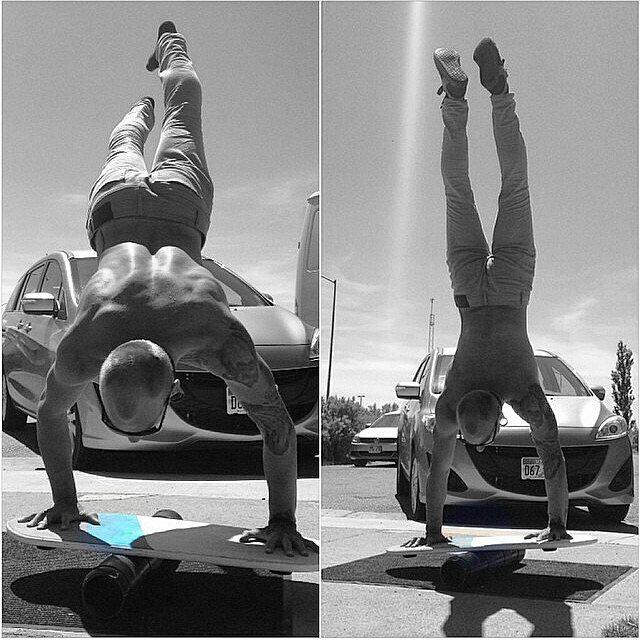 Crazy balance. #revbalance #findyourbalance #balanceboards #madeinusa