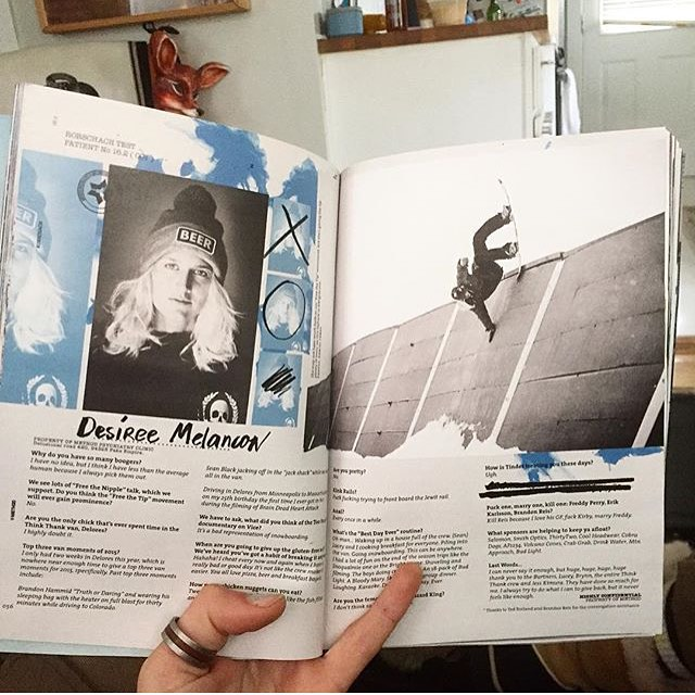 Check out the new @methodmag to see what #coalheadwear ambassador @desireemelancon has been up to. A scholar, an artist, and an awesome boarder, Des is the real deal!