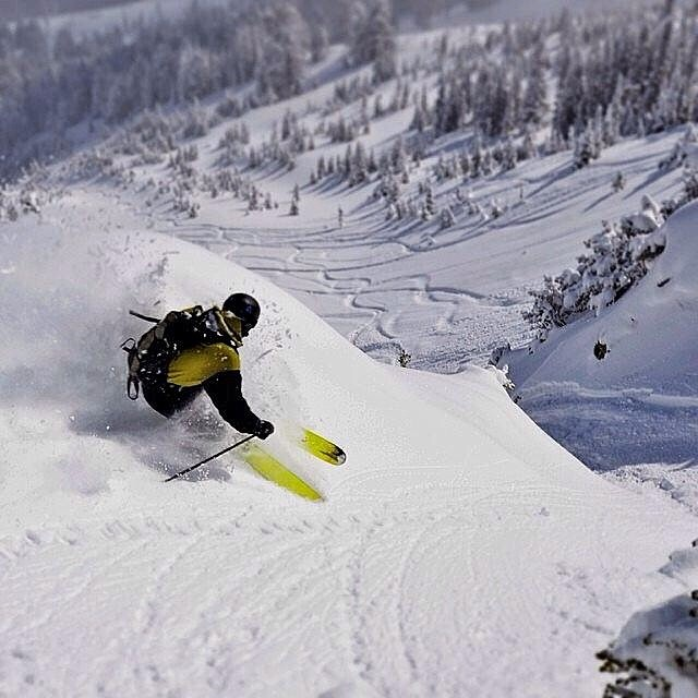 @maxwellsilver slashing the waves at bridger bowl. #montana #trewlife #trewcrew