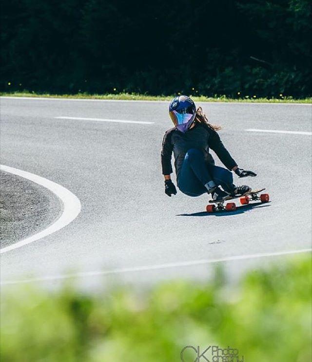 LGC German rider @lilian.gutsch during #belajoyride this summer. CK Photography photo.  #longboardgirlscrew #womensupportingwomen #skatelikeagirl #liliangutsch #belajoyride