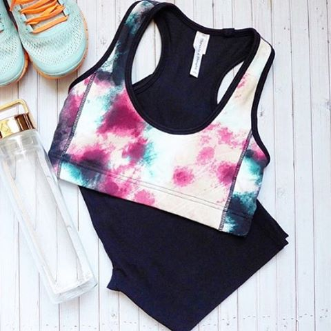 Morning gear — featuring the Costa Rica Sports Bra & Black Leggings