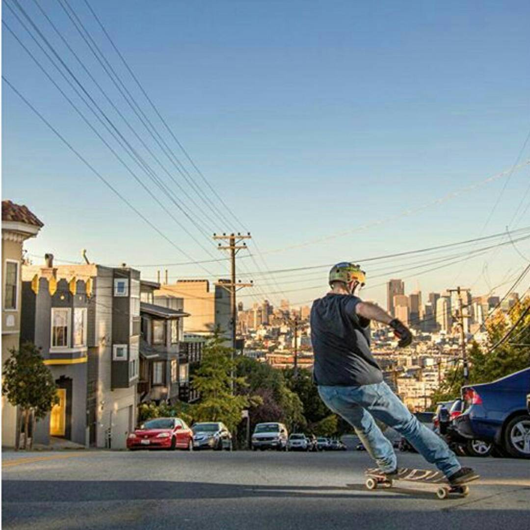 @wheelbasemag is dropping the recap for the Bonzing Art Opening tomorrow!  Be sure to check out all the fun at Wheelbasemag.com!  While Wheelbase magazine was in San Francisco they captured this awesome photo of owner Austin Graziano--@austin_bonzing!...