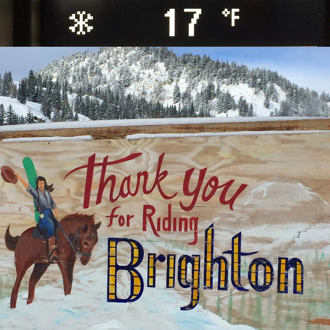 Currently @brightonresort: mountain is COVERED with a solid base, and opening day is TOMORROW!! Who's coming with us?!