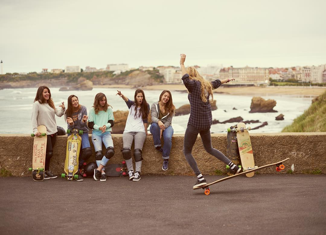 It's out! Run to longboardgirlscrew.com to check out our new ad for @bouyguestelecom shot by @tyevans some weeks ago in southern France with the most amazing team.  Endless thanks to everyone who made this happen and chose to portray real female...