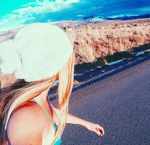 #miolagirls never quit ☀ || @meredithdrangin in our Pin-up Top || #getoutthere #colorado #skatergirl