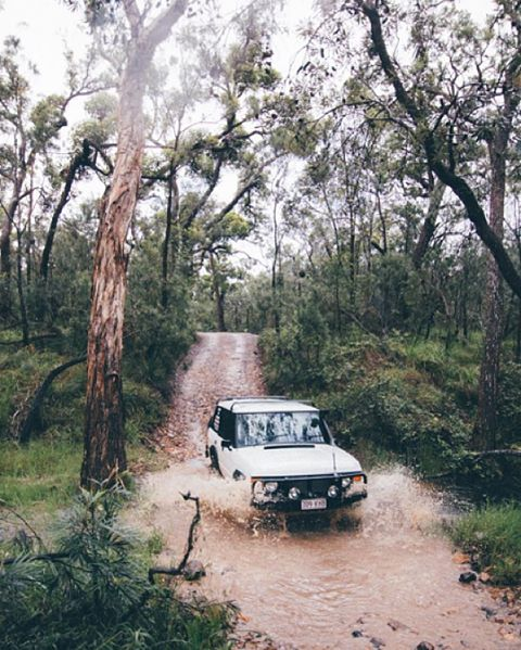 The snow here is great, but @chelseakauai is driving through mud lakes in Australia and we couldn't be more jealous #NatureOfProof