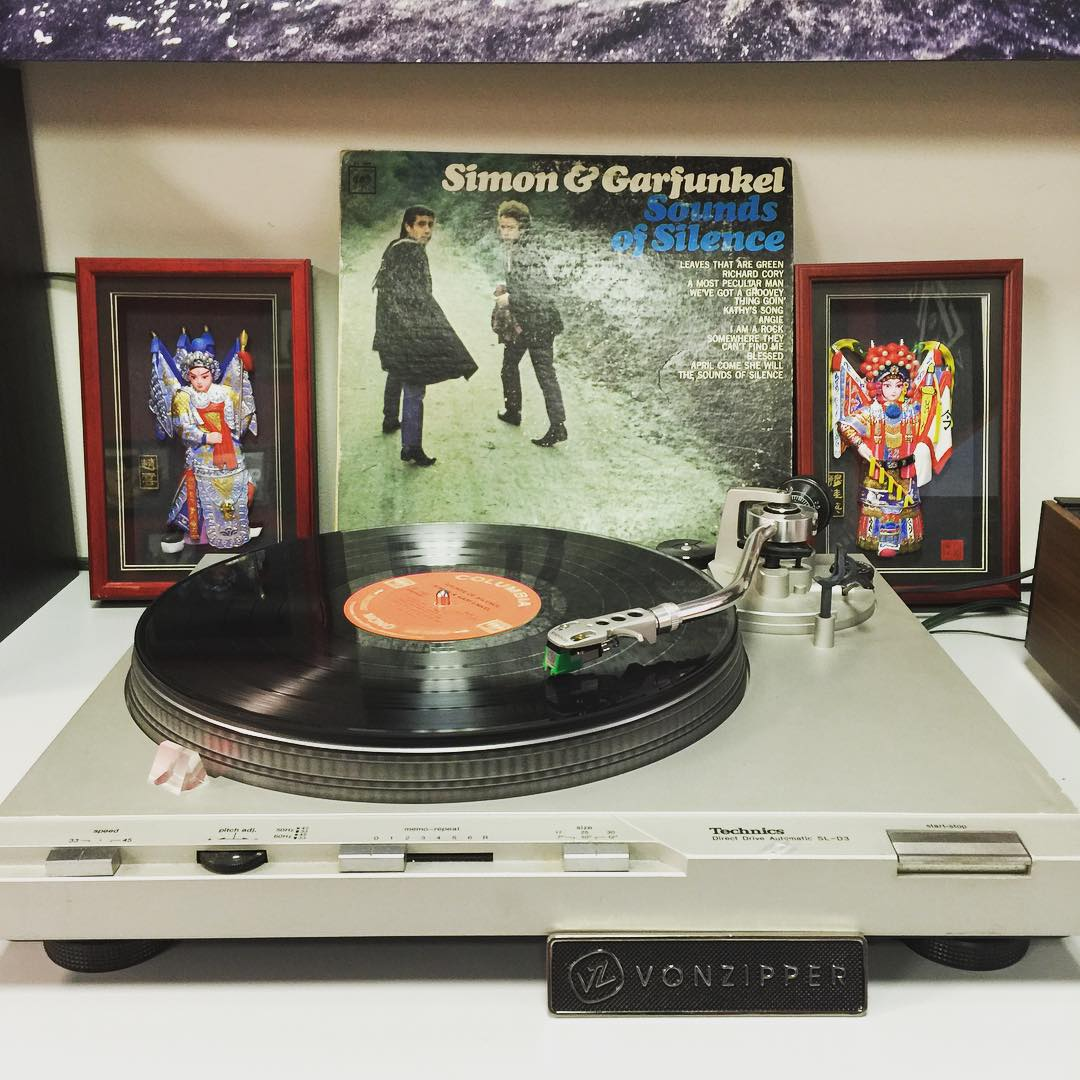 "Winding down the day with some mellow Simon & Garfunkel for this ""chilly"" #TurntableTuesday. What are you jamming to? Tag a friend that needs to hear this record right now. #VonZipper #SupportWildLife"