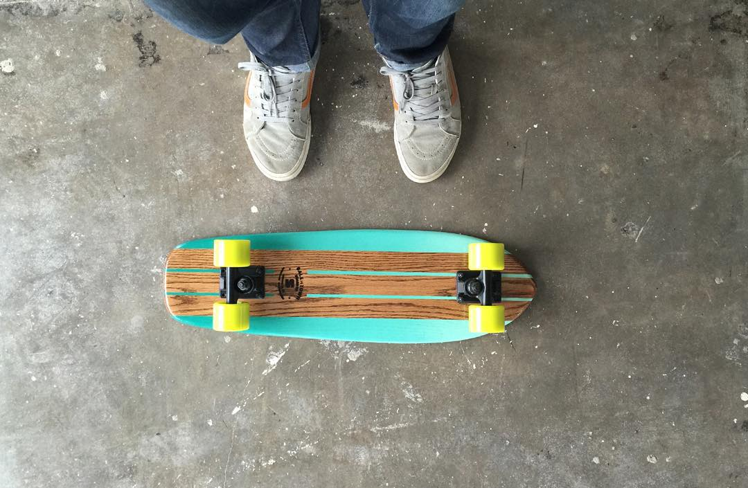 The Elixir oak cruiser. Now live. #handmadeskateboard