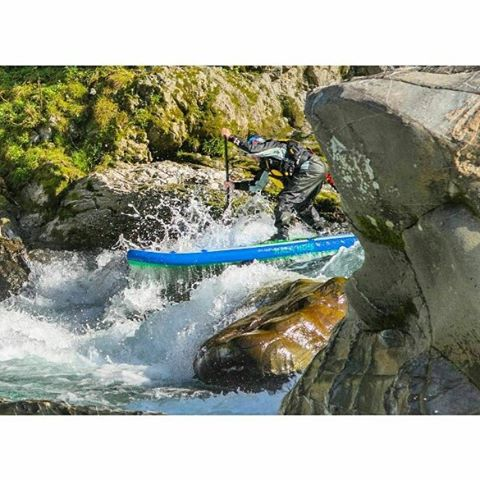 "@suppaul_pics charging the entrance move on ""Big Falls"" rapids on the Yoshino River, Japan. #halagear #isup #paddleboarding #whitewaterdesigned #whitewatersup #yoshino #japan #adventuredesigned"