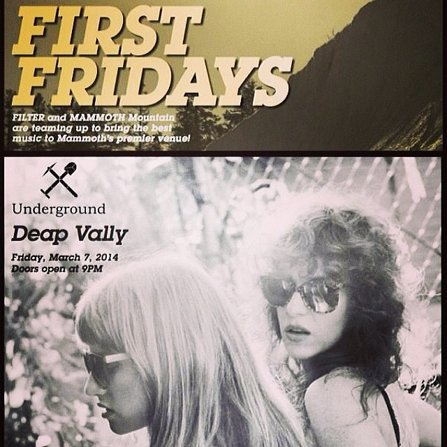 Mammoth peeps: if you're not there, get there! B4BC x @FilterMagazine First Fridays is going off right now with epic rocker girls @DeapVally!! Good music for a good cause