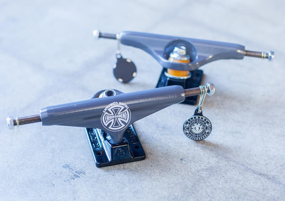 exclusive @independenttrucks x #element colorway in support of @greyson_fletcher turning pro! >>> limited batch available in both 139mm and 149mm only from @branchdistribution >>> find them at your local shop or there are a couple left on our site...