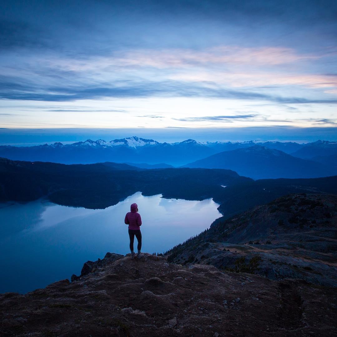 """Taking in the final moments of light on Panorama ridge above Garibaldi Lake."" - @taylormichaelburk"