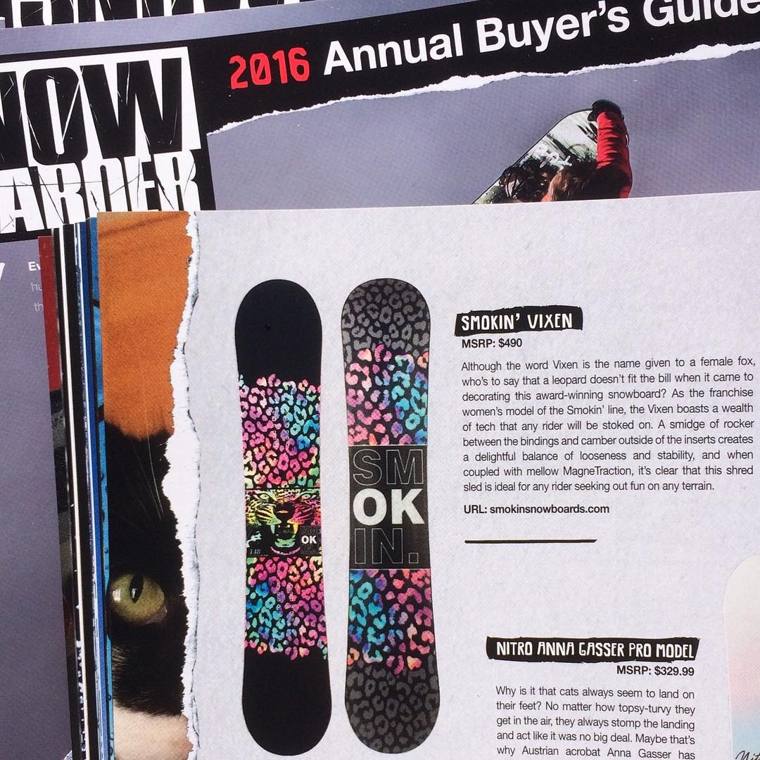 Thanks for the great write up on our  3 x #GoodWood winning #Vixen model @snowboardermag  #weareOK | #handmadeUSA | #ForRidersByRiders | #3yearwarranty