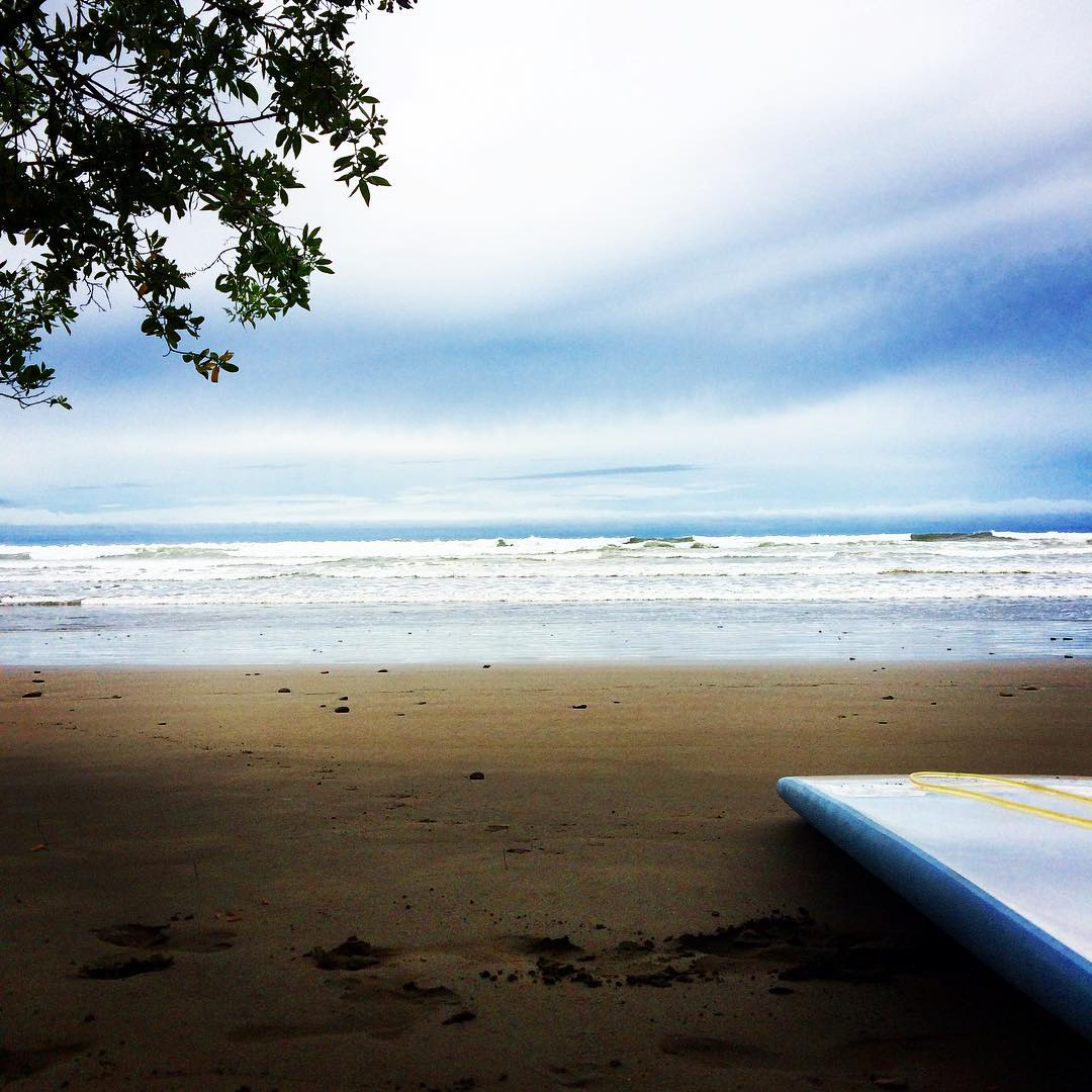 Stormy morning surf session at Playa Chaman