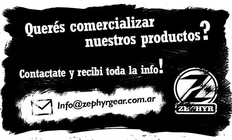 Contactate a nuestro mail, info@zephyrgear.com.ar, y recibí toda la info para comerciar nuestros productos!