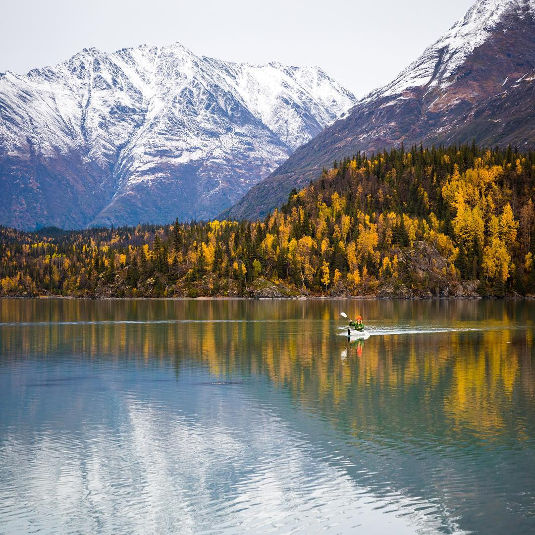 """Chasing after the fall colours in Alaska with @everchanginghorizon."" -@taylormichaelburk"