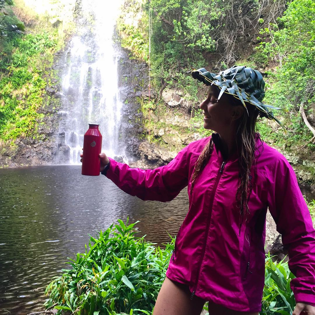 "I always get a kick out of the cheesy ""optical illusion fill up my bottle with a waterfall"" photos...so here is mine ;) Mahalo @mizulife! Photo by @embryrucker"