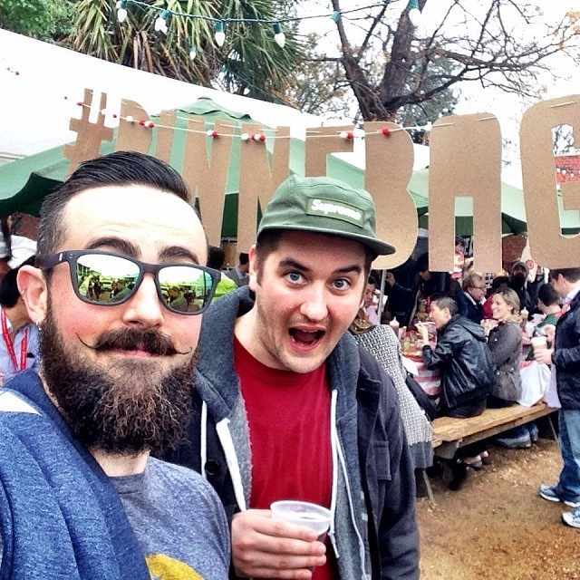 #peakdesign and friends at the @Pinterest #pinnebago event. #sxsw