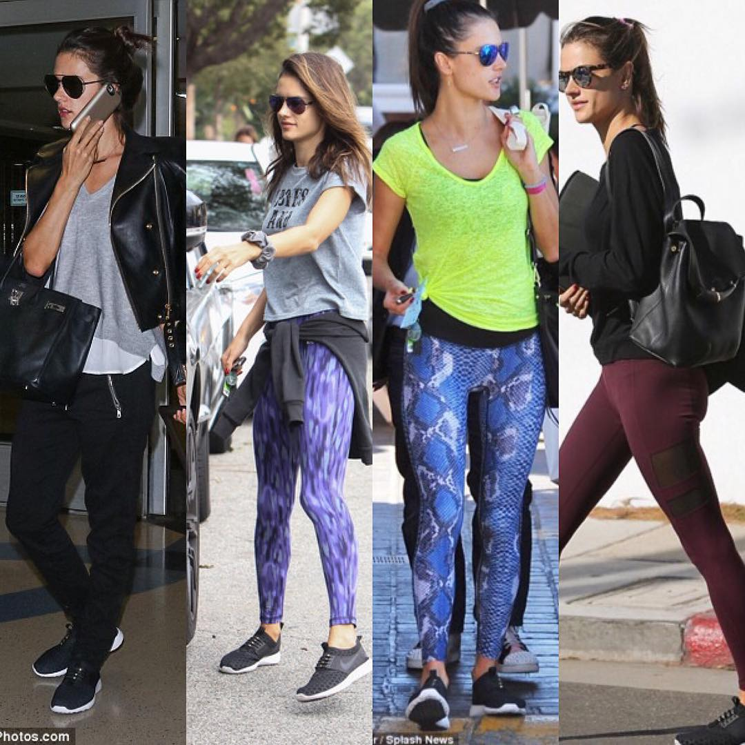While Alessandra Ambrosio wears many different outfits, one thing stays the same - her sneakers with HICKIES. #LifeWithoutLaces #spotted