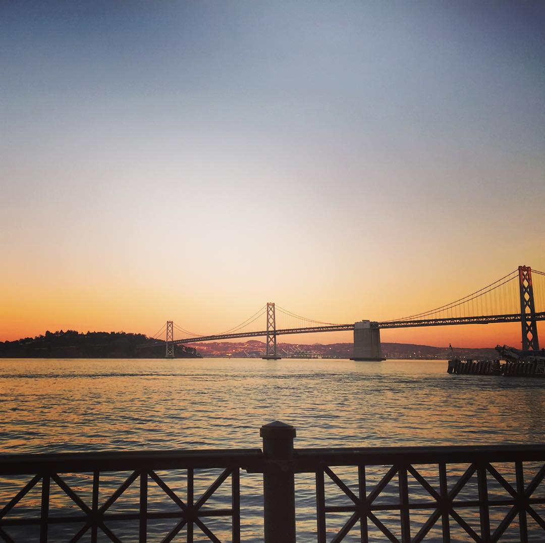 That time of night #sunset #sunsetchaser #sanfrancisco #baybridge
