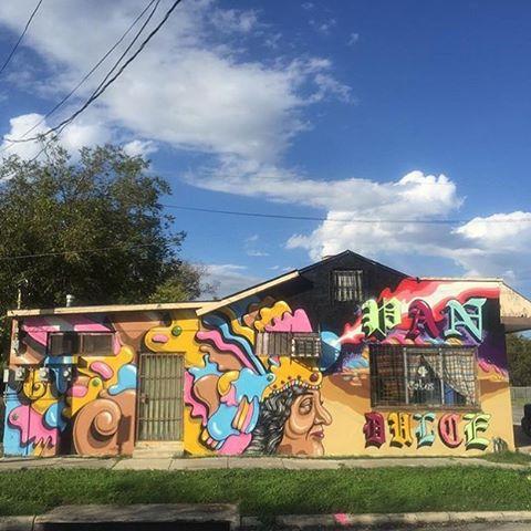 @rafael_delagarza #sanantonio • • #Texas #TX #satx #mural #art #spratx