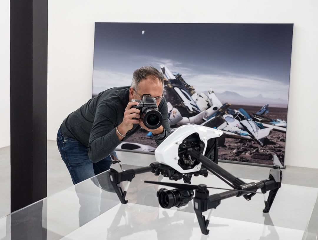 It all begins with the first click.  Hasselblad's (@Hasselblad) Michael Najjar with the #DJI #inspire1 PRO as part of the Synergy series.  #IamDJI #hasselblad #createtoinspire #mediumformat