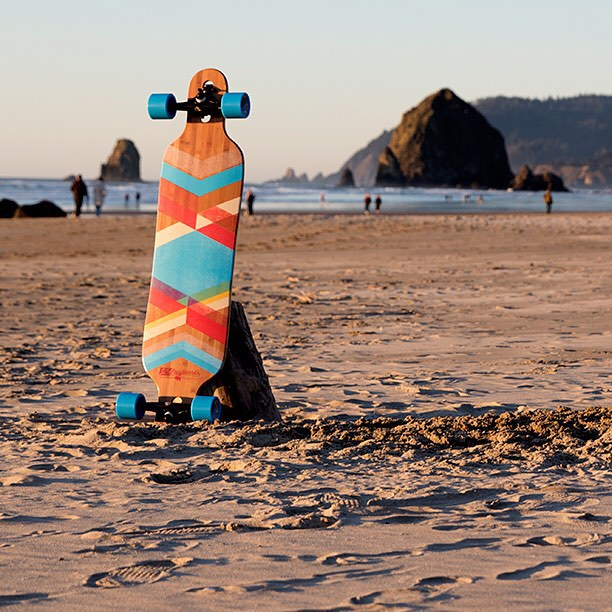 The Pioneer relaxing in Cannon Beach, Oregon. #dblongboards #longboarding #cannonbeach #oregon